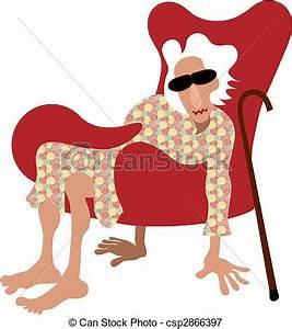 Sessel Ohne Beine : vektoren illustration von pension r altes dame sitzen in sessel ohne beine ~ Sanjose-hotels-ca.com Haus und Dekorationen