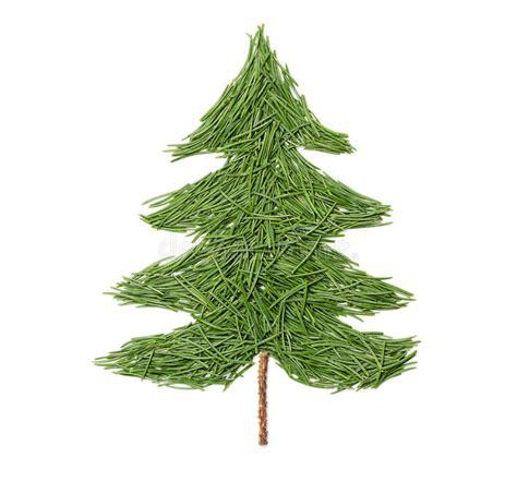 silueta de árbol de navidad silueta 225 rbol de abeto de la navidad hecho de agujas pino en un fondo blanco imagen de