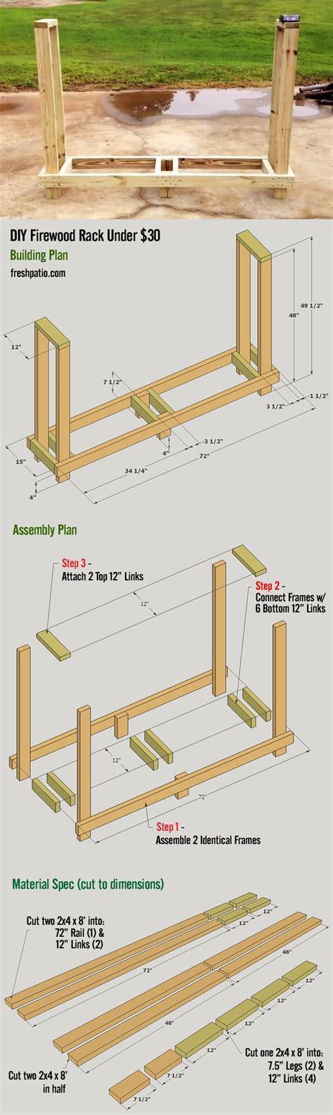 firewood rack plan easy  build