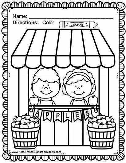 Coloring Pages Printable Fun Fern Classroom Apple