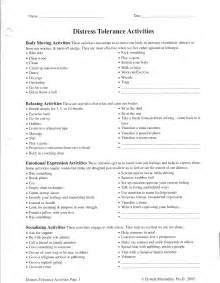 DBT Distress Tolerance Worksheets