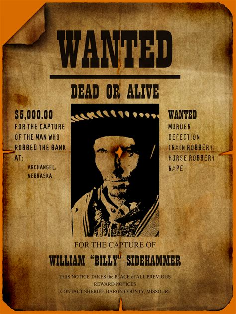 wanted poster template  authorizationlettersorg