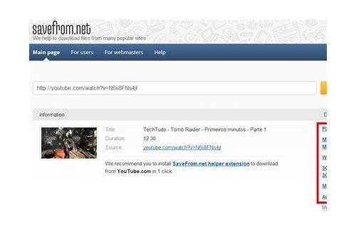 como baixar videos do youtube usando url