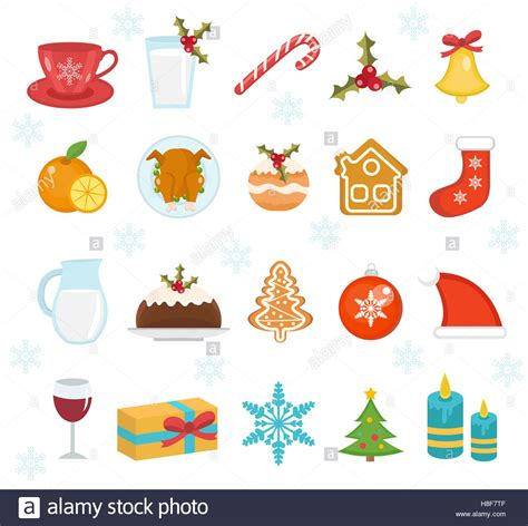 traditional christmas clip set christmas icons set set of traditional christmas symbols christmas stock photo royalty free