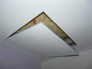 Trappe De Plafond : installation trappe grenier avec faux plafond ~ Premium-room.com Idées de Décoration