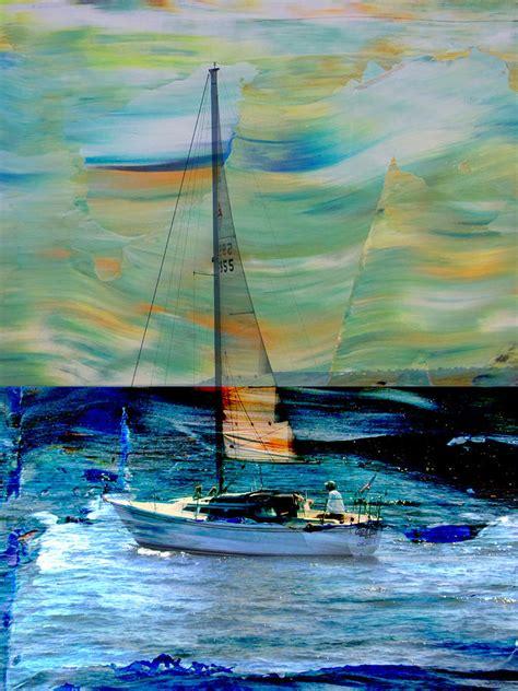 large sailboat wall decor sailboat and abstract digital by burgermeister