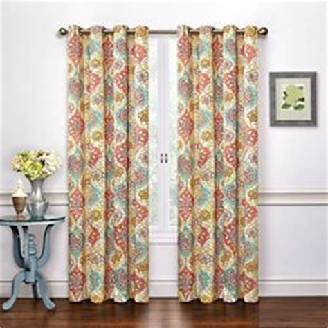 waverly cape coral lined curtain panel pair coral 100