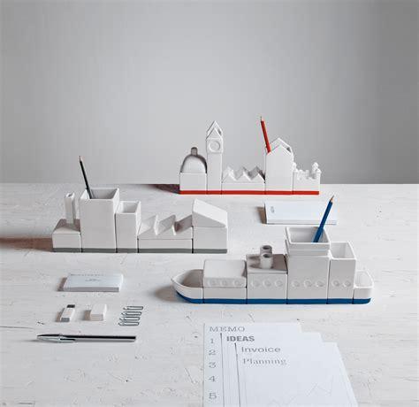 set pour bureau boîte la city set boîtes pour bureau l 33 cm blanc