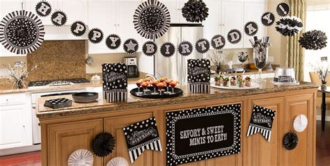 Black & White Birthday Party Supplies  Party City. Dining Room Tables With Bench. Curtains For Living Room. Square Dining Room Sets. Bath Room Decor. Kitchen Decorating Accessories. Valentine Day Table Decorations. Hexagon Wall Decor. Wall Pictures For Living Room