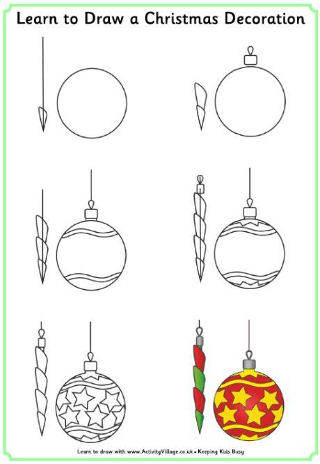 christmas drawings step  step learn  draw  christmas