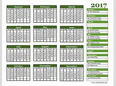 2017 Yearly Calendar Landscape 06 Free Printable Templates