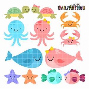 Cute Baby Sea Animals Clip Art Set – Daily Art Hub – Free ...