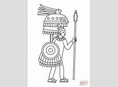 Dibujo de Dibujo de Guerrero Azteca en Códice Mendocino