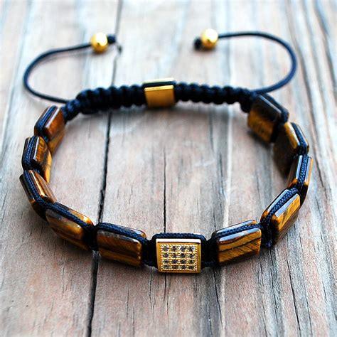 Square Mala Bracelet Tiger's Eye