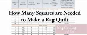 More Rag Quilting With Liz Chart Of Squares Needed For Rag