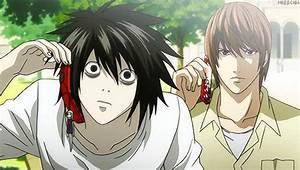 gif gifs anime edits Death Note kira light yagami L ...