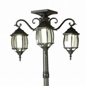 Lampadaire 3 Tetes : lampadaire 3 t tes nergie solaire luminaires de jardin canac ~ Teatrodelosmanantiales.com Idées de Décoration