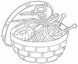 Sewing Embroidery Basket Quilter Patterns Tools Qisforquilter Wonderful Line Baskets Redwork Quilts Drawings Many Coloring Needlework Website Quilt Machine Reprints sketch template
