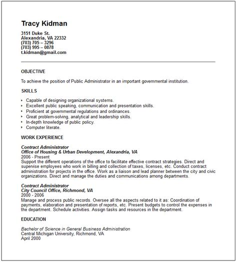 Web Services Administration Resume by Administrator Resume Exle Free Templates Collection