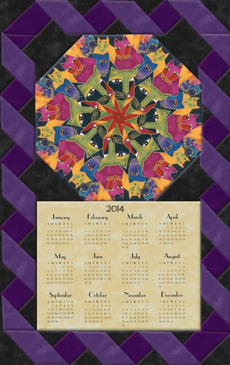 laurel burch laurel burch fabulous felines calendar wall hanging kit