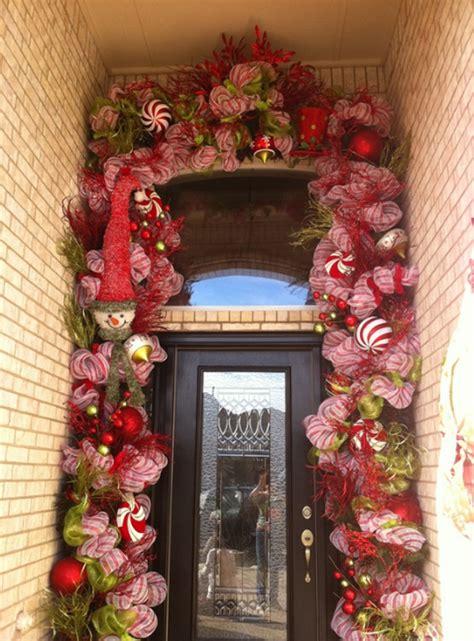 christmas doors  flower ornaments home design
