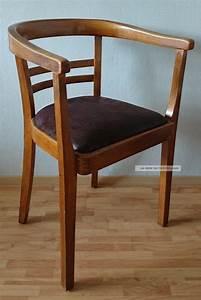 Art Deco Stuhl : armlehnstuhl mit polster dunkel bauhaus gropius art deco stuhl holzstuhl antik ~ Eleganceandgraceweddings.com Haus und Dekorationen