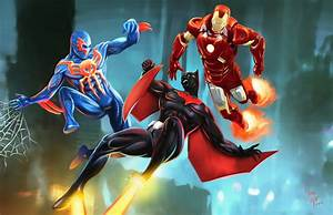 Beyond...- Batman Beyond, Spider-man 2099, Ironman by ...
