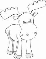 Moose Coloring Printable Muffin Sheet Give Animal Colouring Head Draw Templates Elg Tegninger sketch template