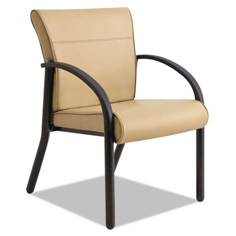 gratzi reception series guest chair with arms taupe vinyl