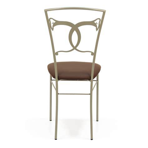 chaise en fer altea sedia chaise en fer avec assise em simili cuir ou