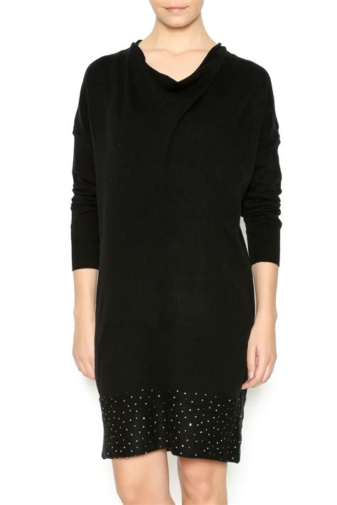 Boat Neck Cashmere Sweater by Blossom Cashmere Boat Neck Cashmere Sweater Dress From