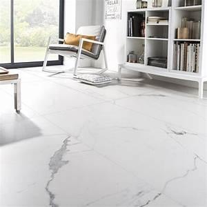 carrelage sol et mur blanc effet marbre rimini l60 x l With porte d entrée pvc avec carrelage mural salle de bain blanc brillant