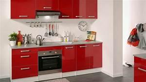 meuble de cuisine rouge youtube avec cuisine moderne rouge With meuble de cuisine moderne