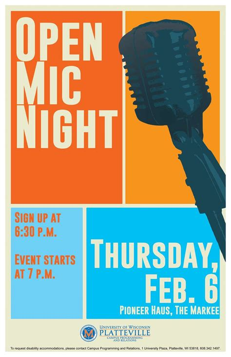 foto de Open Mic Night Event poster design Graphic design flyer