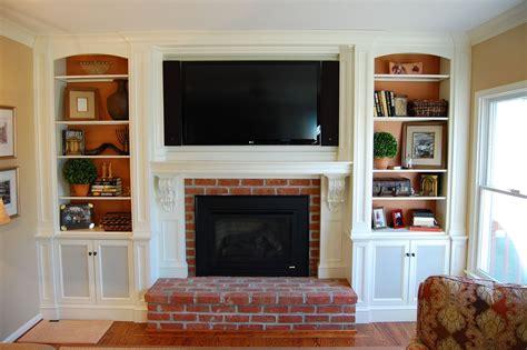 tv  fireplace ideas custom  mantel tv cabinetry