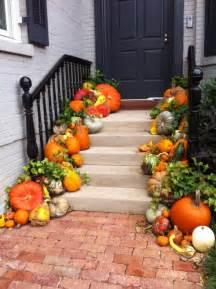 Fall Pumpkin Front Door Decorations