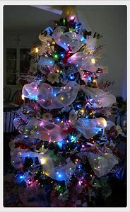 christmas tree decorating ideas with colored lights