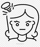 Angry Coloring Colorir Menina Desenho Para Clipart Pikpng sketch template
