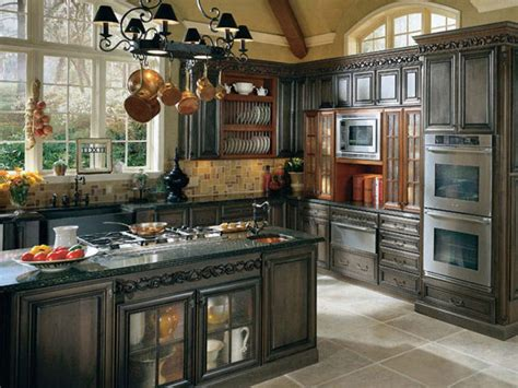 French Country Kitchen Cabinets Cream Color Granite