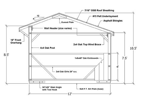 horse shed construction specs sheds pinterest