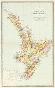Australia C1888 Map Of New Zealand North Island Original