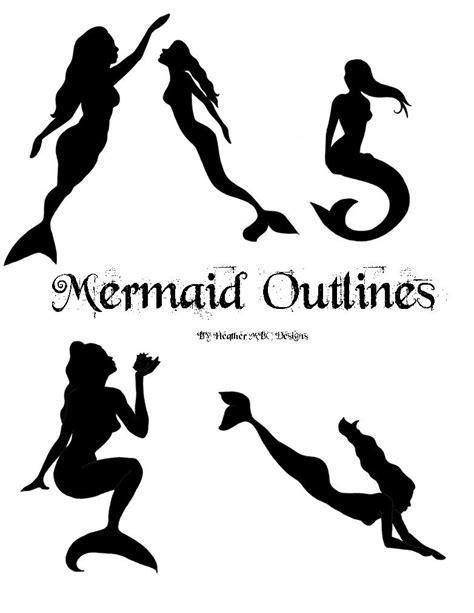 mermaid template mermaid outline patterns applique instant digital