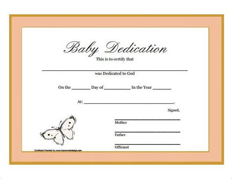 17 Church Certificate Templates Free Printable Sle Designs 17 Best Church Ideas Images On Baby Dedication