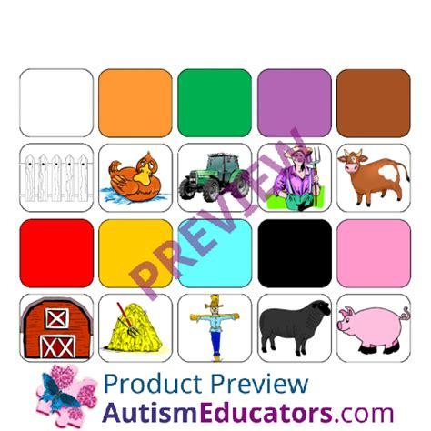 color for autism make a sentence about quot colors on the farm quot for autism