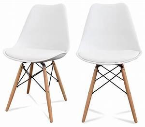 Lot De 2 Chaises Design Ormond DSW Couleur Blanc