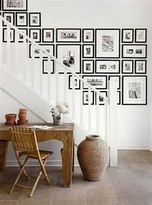 Cadre Deco Noir Et Blanc : 70 inspirations pour une d co mont e d escalier originale le mode d emploi d une ~ Melissatoandfro.com Idées de Décoration