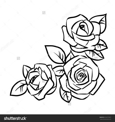 simple rose outline drawing google search tattoos