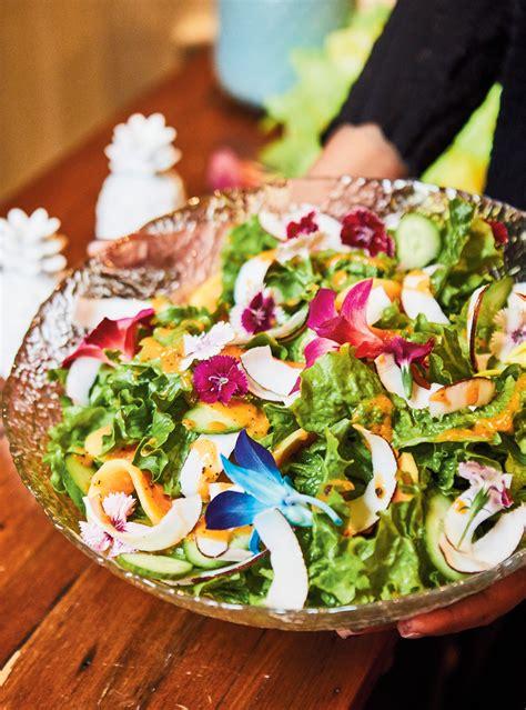 cuisiner la salade verte salade verte et vinaigrette à la papaye ricardo