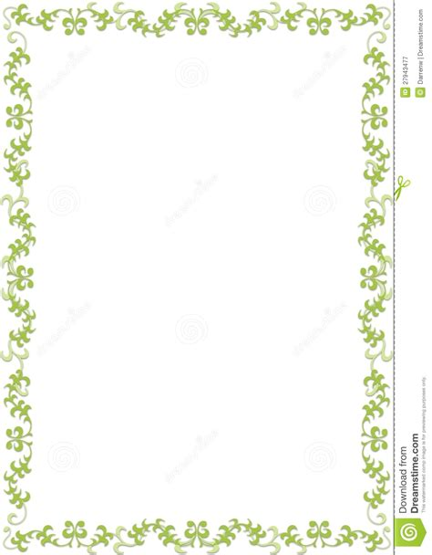 green floral border royalty  stock photography image