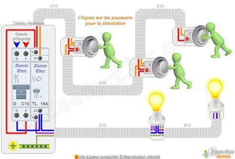 schema bouton poussoir montage c 226 blage branchement d un t 233 l 233 rupteur et boutons poussoirs comment brancher un